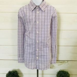 VAN HEUSEN BOYS PURPLE CHECK DRESS SHIRT
